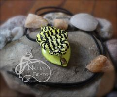 Jungle Carpet Python Pendant by NadilynBeato