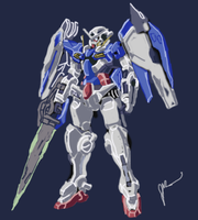 Exia Riser Painting by digitaleva