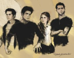 Teen Wolf Sketch by PetiteAllemande