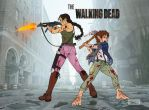 Kalini and Pippin- Walking Dead by SapphireGamgee