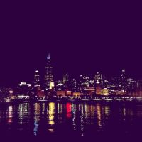 Chicago at Night by jonniedee