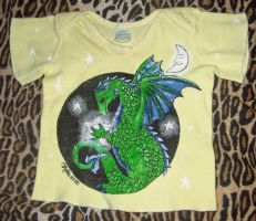 Baby shirt with a dragon on it by HollyRoseBriar