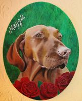 Maggie Pet Portrait by Bonniemarie