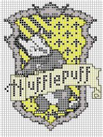 Hufflepuff embroidery pattern by Ronjaliek