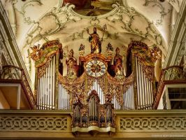 Organ in Stift Sankt Peter by pingallery