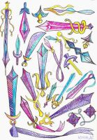 Moon Princess Weapons by browneyedanachronism