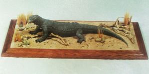 13. KOMODO DRAGON-Scale Sculpture-Mixed Media by AllanSutherland