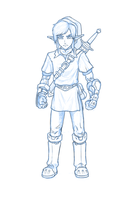 Zelda Link Sketch by mefesto78