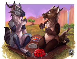 The Great Nagrand Jello Picnic by ThayRustback