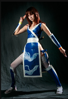 Kasumi DOA4 Duct Tape Cosplay by midnitedying