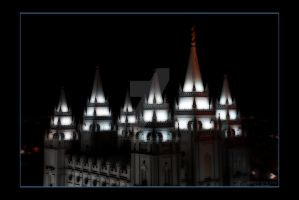 Salt Lake LDS Mormon Temple by houstonryan