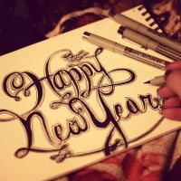 Happy New Year Hand-Lettering by MoPotter
