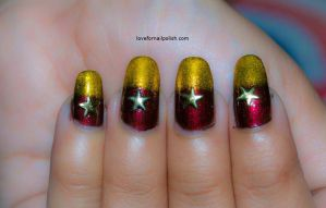 Gold Star Nails by Gorgeousnails