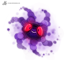 Daily Painting 753. Kanto - Ghastly Redo Quickie by Cryptid-Creations