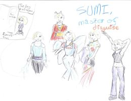 Sumi: Dressing Up by Chalk-heart