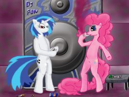 Pinkie Pie and Vinyl Scratch getting high :D by alienkilla