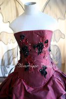 Goth wings wedding dress 4 by silverhippo