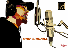 Mike Shinoda in WPAP 4 by setobuje