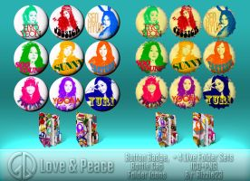 Random Love and Peace Folder Icons Icon Pack by Rizzie23
