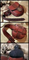 Leather waist pouch and belt by morgenland