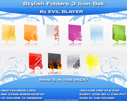 Stylish Folders 3 Icon Set by Evil-Slayer