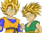 Goten and Trunks Super Saiyan by Loraxdude