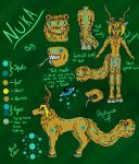 Updated Nuka Reference (now with anthro) by Crystal-WolfDarkness
