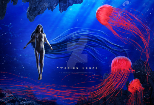The Goddess of Jellyfish by Wesley-Souza