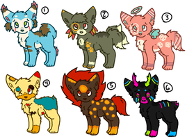 Adopts 3 (OPEN 4/6) by Whovian-Rinny