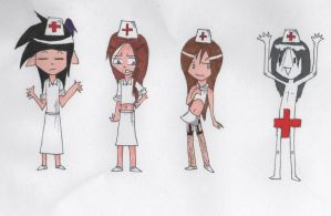 Helloooooo nurse - chibis by Unknown-Variable