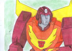 Rodimus Prime g1 second drawing by ailgara