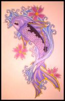 Purple Koi by crashchick