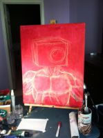 Step 1: Underpainting and Chalk Sketch (Week 1) by BrightObject