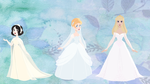 Disney Wedding Gowns: Classic Princesses by Decapitated-Kittens