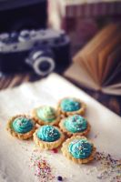 Blue cookies by FiorOf