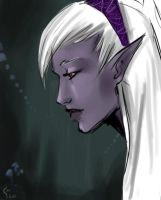 Drow Doodle by Liabra