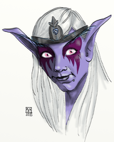 Night Elf of nympha_lunaris by The-Tinidril