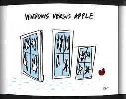 windows versus apple by adamcloud