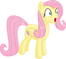 Astonished Fluttershy by transparentpony