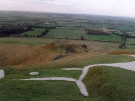 Uffington white horse by Willowsmummy