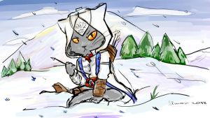 AC3: Connor Kenway cat by SimonTheFox1