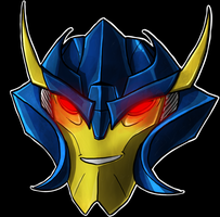 Dreadwing Helm Smile by Laserbot