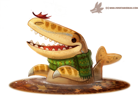 Daily Paint #1055. Autumn Dinos - Mosasaurus by Cryptid-Creations