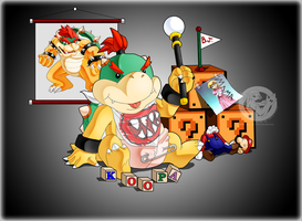 Bowser Jr's Castle by slimthrowed