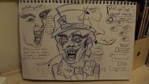 Mad Hatter Concept Sheet by garymowat