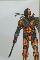 Deathstroke Concept Art by mrkmhtet
