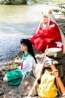 A quiet moment - Inu Yasha and Kagome by K-i-R-a-R-a