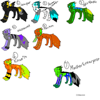 Adoptables, NOT FOR SALE by CCMacoroniAdoptables