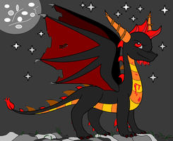 .::Doom Night the dragon::. by BlazetheCat1445