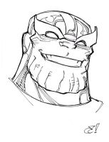 Thanos Happy By Craig Rousseau by IamSpeck